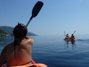 Kayak safari around the beach of agios gordios