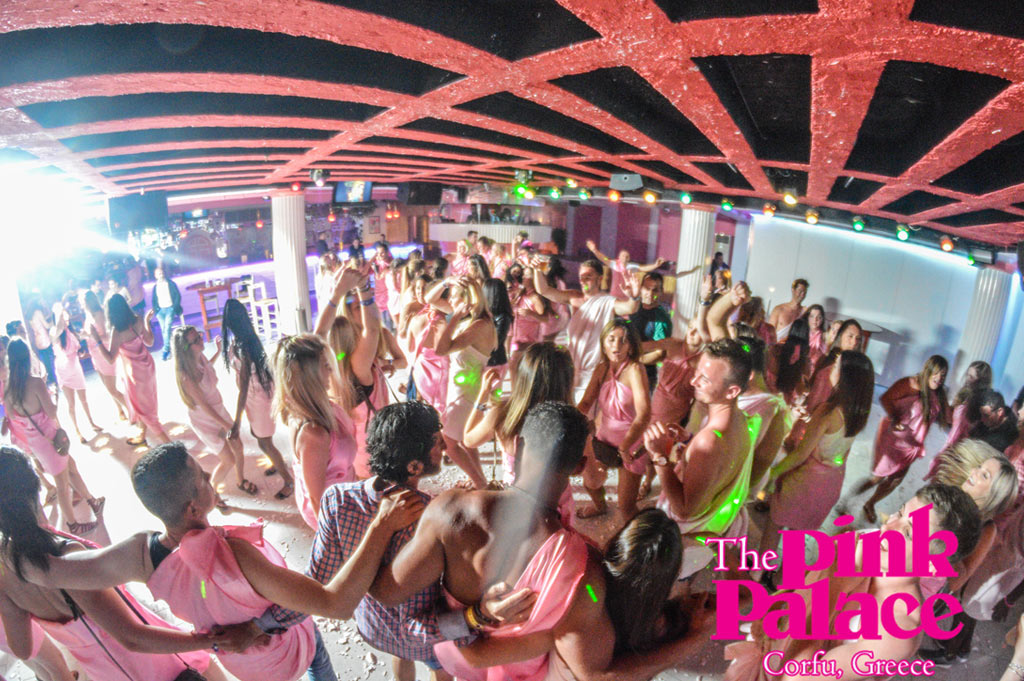 Pink Palace Hostel Corfu Nightlife in Agios Gordios