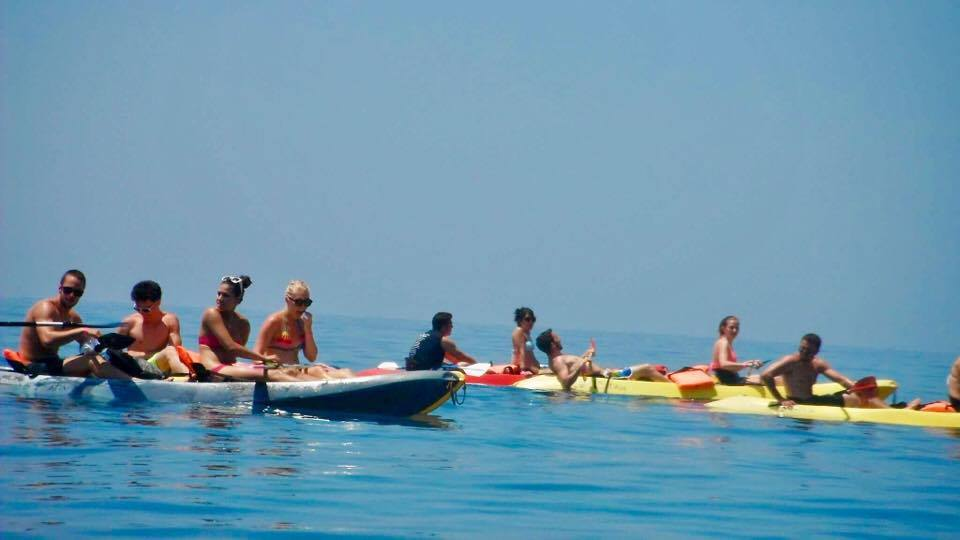 Kayak safari in Corfu